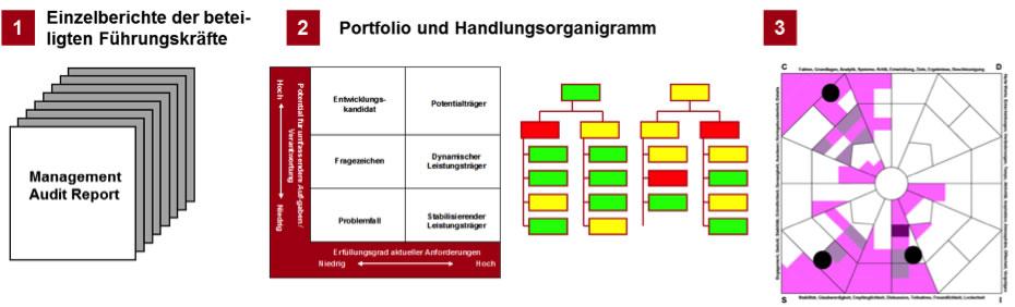 Exemplarische Darstellung des Ablaufs der Management Audit Berichterstattung