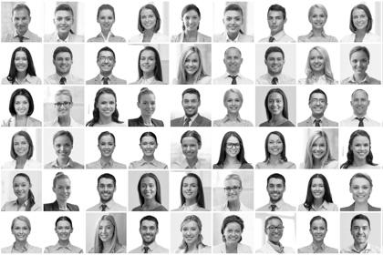 Gesichter in Collage